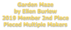 Garden Maze by Ellen Burlew 2019 Member 2nd Place Pieced Multiple Makers